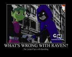 What's Wrong With Raven? by Puglover24 on deviantART She has to have a thing for him... my shipping heart couldnt handle it if she didn't
