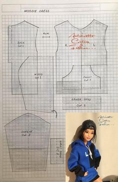 doll dress patterns Fashion Dolls Couture - Unlimited: Oversized Hoodie Dress - Made to Move Barbie - Barbie E Ken, Barbie Stil, Barbie Dolls Diy, Barbie Dress, Girl Barbie, Barbie Costume, Barbie House, Sewing Barbie Clothes, Barbie Sewing Patterns