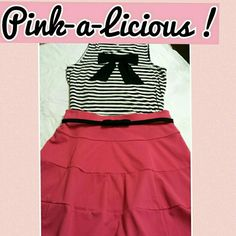 Bubble gum pink skirt Gorgeous shade of pink! Pull on fit and flare skirt. Like new ! Skirts