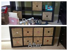 Before & After photos of a home organizing project. Organizing completed by The Well-Organized Woman in Atlanta, GA.
