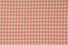 North State Houndstooth Woven Upholstery or Drapery Fabric in Coral & Beige