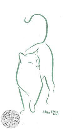 Minimalist Cat 1 by sidneyeileen.deviantart.com on @deviantART