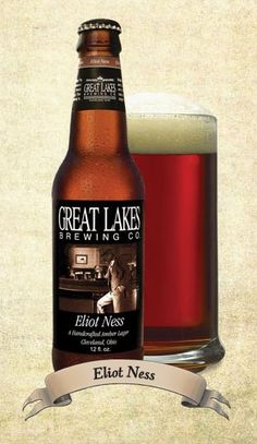 Eliot Ness Amber Lager: An amber lager with rich, fragrant malt flavors balanced by crisp noble hops