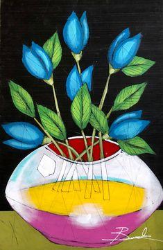 The Experience Floral by Michael Banks Michael Banks, Atlanta Art, Outsider Art, Black Art, Contemporary Artists, Painting On Wood, Art Museum, Framed Art, Folk Art