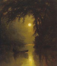 Arthur Parton ~ Moonlit Landscape - Hyperbolia