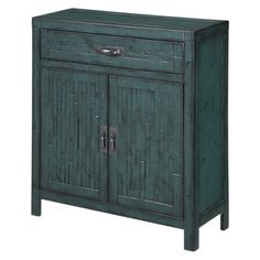 "teal cabinet (it's only 12"" deep, which is awesome!) - great for our bedroom"