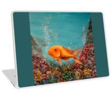 Laptop Skin,  unique,cool,fancy,beautiful,trendy,artistic,awesome,unusual,fashionable,accessories,gifts,presents,ideas,design,items,products,for,sale,blue,turquoise,fish,underwater,ocean,redbubble