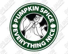 Cinderella Starbucks Fairy Godmother Pumpkin Spice SVG Cut File Set