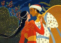 Arabian Nights published 1704 Scheherazade on Behance Princess Illustration, Night Illustration, Character Illustration, Botanical Illustration, Orient, Indian Art, Art Tutorials, Art Reference, Character Art