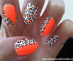 Orange & White Chettah Print