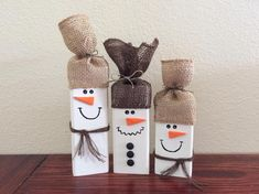 Excited to share this item from my shop: Set of 3 Wooden Snowmen/Wood Snowman/Rustic Snowman Decor/Rustic Christmas Decor/Wooden Snowman Set/Winter Snowman set/Holiday Decor Snowman Christmas Decorations, Christmas Wood Crafts, Christmas Centerpieces, Christmas Snowman, Holiday Crafts, Holiday Decor, Winter Wood Crafts, Christmas Crafts For Adults, Christmas Presents