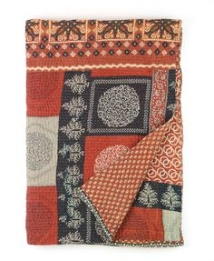 Home & Garden Bedding Loyal Indian Reversible Twin Size Cotton Black Paisley Kantha Quilt Blanket Bedspread Structural Disabilities