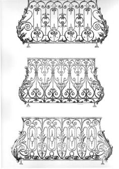 Wrought Iron Decor, Wrought Iron Gates, Balcony Railing Design, Balustrades, Iron Balcony, Iron Art, Iron Doors, Architectural Elements, Metal Art