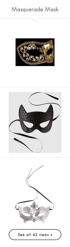 """Masquerade Mask"" by kaitlynpope77 ❤ liked on Polyvore featuring mask, costumes, accessories, black, halloween, sexy halloween costumes, sexy costumes, la senza, masks and jewelry"