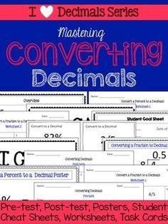 multiplying decimals unit pretests post tests poster cheat sheets worksheets decimal and. Black Bedroom Furniture Sets. Home Design Ideas