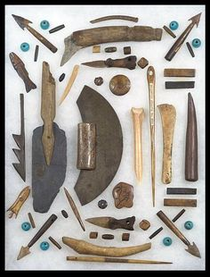 Inuit Tools in a Frame.