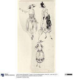 Frauen in Nachmittagskleidern | Haase-Werkenthin, Julie, 1921