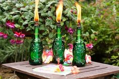 DIY Tiki Torch | DIY Beach Party Ideas For Your Beach-Themed Celebration