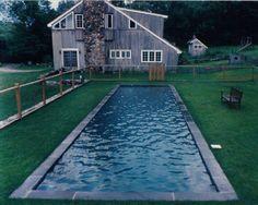 simple pool The Painted Blackbird Natural Swimming Pools, Swimming Pools Backyard, Swimming Pool Designs, Pool Landscaping, Lap Pools, Natural Pools, Indoor Pools, Pool Decks, Strand Pool
