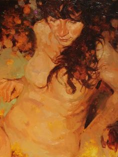 """""""New Nude I"""" 12"""" x 9"""" Oil on Panel"""
