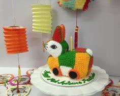 Rabbit lantern cake to celebrate mid autumn festival!