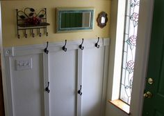 from Mary Ostyn...DIY coat rack for a tiny space