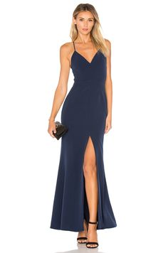 Lovers + Friends x REVOLVE Helena Gown in Navy | REVOLVE