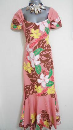 c4202ef83835 Hawaiian Muumuu, Island Wear, Tropical Fashion, Vintage Hawaii, Different  Dresses, Pink Brown, Vintage Style Dresses, Groom Dress, Island Girl
