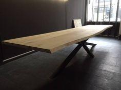 Exclusief 400cm lange Eiken boomstam vergader tafel, geheel op maat gemaakt!