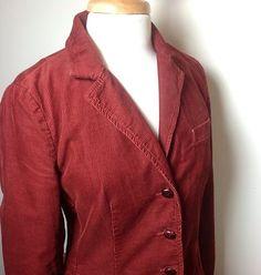 J.Crew Corduroy Blazer Rust color Size M Jacket Excellent $54.50
