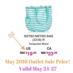 May 24-27, 2016 - Outlet Sale!  While Supplies Last!! Retro Metro Bag