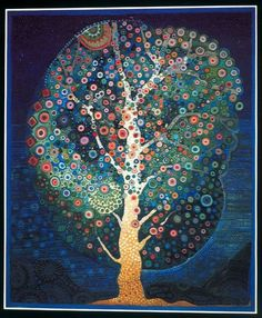 Juan Romero (Feels a bit like Klimt) Art And Illustration, Motif Floral, Whimsical Art, Art Plastique, Tree Art, Art Reproductions, Textile Art, Fiber Art, Painting & Drawing