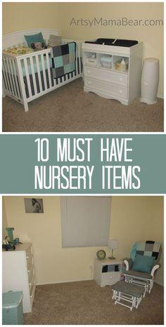 10 Must Have Nursery Items - Artsy Mama Bear Newborn Baby Tips, Newborn Care, Newborn Babies, Baby Development Milestones, Baby Must Haves, Nursery Room, Nursery Ideas, Nursery Decor, Kids Sleep