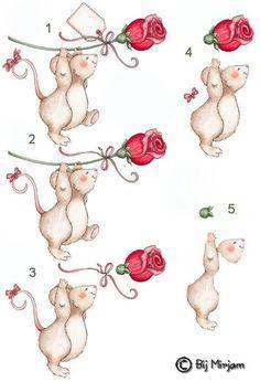 decoupage, mouse,
