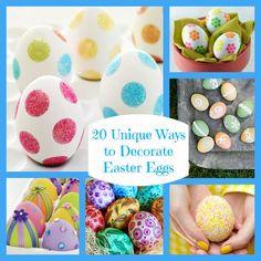 Twenty Unique Ways to Decorate Easter Eggs - Bullock's Buzz