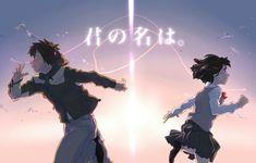 Your Name- Mitsuha and Taki Kimi No Na Wa, Your Name Movie, Your Name Anime, Manga Anime, Fanarts Anime, Anime Films, Mitsuha And Taki, Your Name Wallpaper, Hd Wallpaper