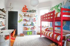Bright and colorful boy's room from Oh Happy Day. Get the look!