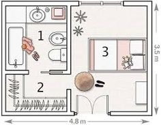 Image result for bathroom and walk in robe floor plans