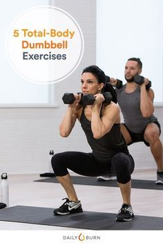 Dumbbells allow you to pack cardio and strength training into one killer full-body workout. Here, we share five exercises to try with this versatile piece of gym equipment.