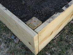 How to build raised beds.