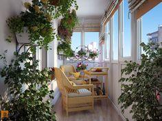 Балкон с большим обилием цветов для утреннего релакса / balcony / balcony garden / balcony garden / balcony decor ideas / small balcony ideas / small balcony ideas / by Pavel Polinov Studio