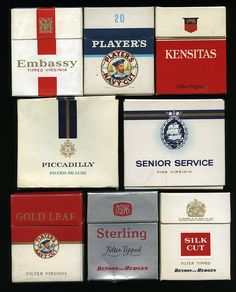 Class 'B' cigarettes 1960s by retrowow, via Flickr