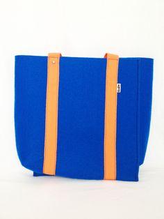 TripFelt double bag cobalt blue orange http://totostyle.pl/