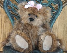 """17"""" faux Fox fur.  Fully jointed.  Glass eyes.  Made by Kimbearlys.   http://www.kimbearlys.com"""