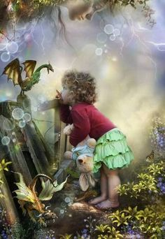 Innocence and fairy tales...I wish I knew where this lovely pic originated from.