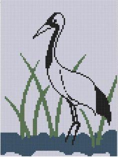 Crane 2 Cross Stitch Pattern | Craftsy