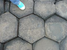Giant's Causeway, Ireland. Natural rock formations.