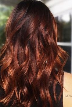 hair color ideas for brunettes with red / hair color _ hair color ideas for brunettes _ hair color ideas _ hair color ideas for blondes _ hair color blonde _ hair color balayage _ hair color highlights _ hair color ideas for brunettes with red Hair Color Dark, Cool Hair Color, Brown Hair Colors, Color Red, Brown To Red Hair, Ginger Brown Hair, Color Shades, Hair Colour, Red Colored Hair