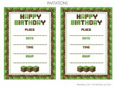 FREE Minecraft Party Printables from Printabelle | Catch My Party