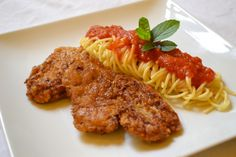 The Italian Piccata Story … Piccata Milanese, Veal Milanese, The Dish, Food Preparation, Zucchini, Spaghetti, Pasta, Nutrition, Dishes